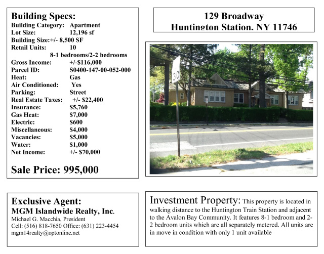 MGM Islandwide Realty - Investment Properties for Sale on Long